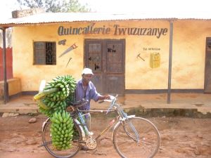 bike, bananas