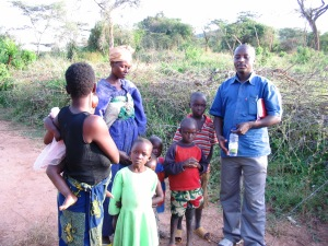 Paul, family at resettlement area