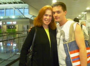Sasha, K at airport